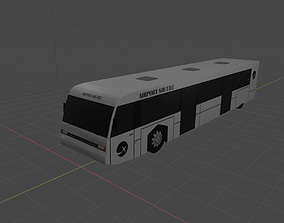 Airport Bus - Low-Poly 3D Model realtime