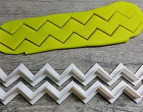 Chevron Pattern cookie cutter 3D printable model