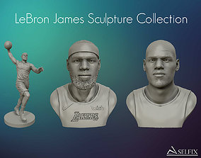 LeBron James 3D models sculpture Collection