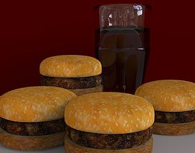 3D model meat Burger