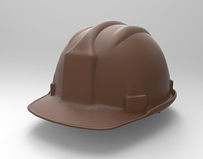 3D printable model worker helmet