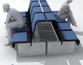 3D model airport seat 01