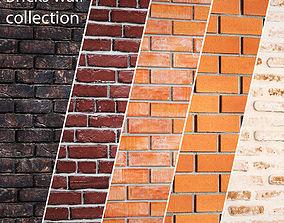 3D Bricks wall set