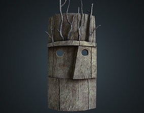 Wood mask with branches 3D model