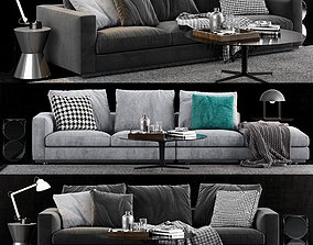 3D Minotti Andersen Line Sofa 3