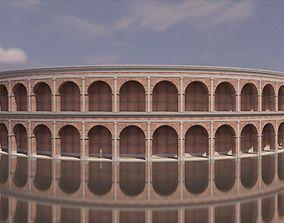 3D Roman coliseum like structure brick and concrete 1