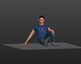 Young American Boy 3D asset