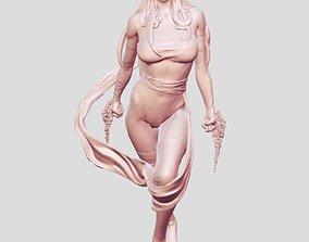superhero warrior girl 3D printable model