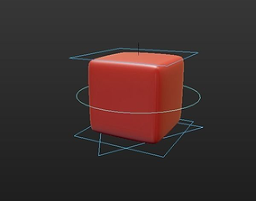 3D Rigged Cube