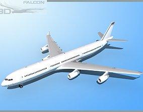 rigged Falcon3D A340-600 Corporate 1