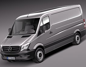 3D model Mercedes Sprinter short low 2014