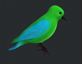 Green Bird 3D asset