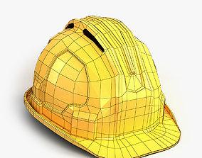 3D model Yellow worker helmet