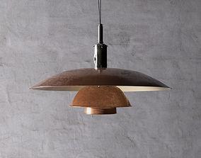 3D Poul Henningsen Copper Pendant