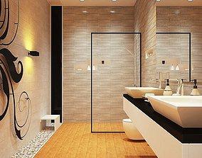 Modern Bathroom 3D model modern