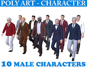 3D asset Low poly Character Pack 01 - Casual
