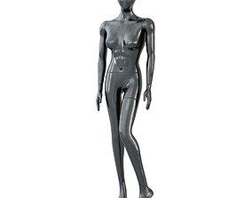 3D model Female Black Mannequin 54