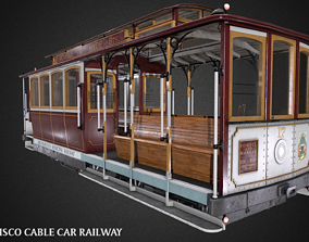 3D model San Francisco Classic Cable Car Railway Videogame