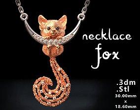 Necklace Fox 3D printable model