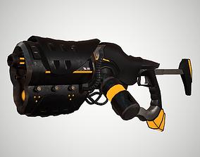 3D model Futuristic Rifle 01