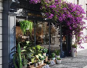 flower shop facade dessign 3D