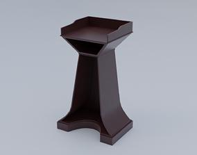 Pulpit Low-Poly 3D model