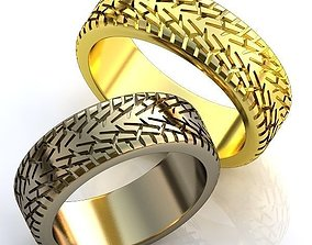 3D print model Gold Metal Wedding Rings with