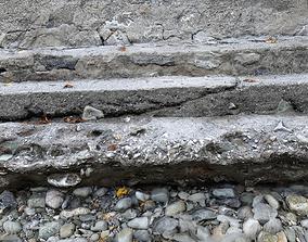 Photoscanned Outdoor rocky steps 3D model