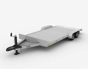 Aluminum Car Trailer 3D model