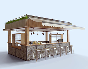 3D model Outdoor Ccafe Kiosk