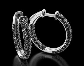 3D print model Stylish Round Diamond Earrings 497