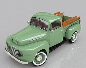 car 3D model FOR-D F-1 PICKUP 1948
