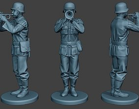 German musician soldier ww2 Stand trumpet 3D print model