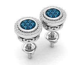 gem Diamond earrings for woman 3D print model