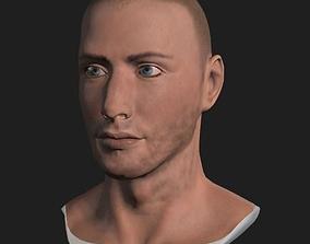 Male Head 3D asset