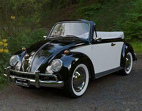 3D model Volkswagen Beetle Convertible