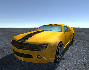 3D model Chevrolet Camaro Lowpoly for Games