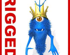 Monster King Rigged Cartoon 3D model