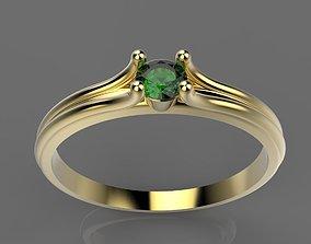 3D printable model RING IZUMRUD GOLD