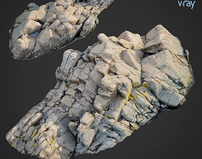 3d scanned rock cliff F ground VR / AR ready
