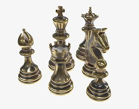 3D Chess figurines