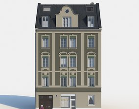 3D model Residential City Building - Row - 05 - Detailed