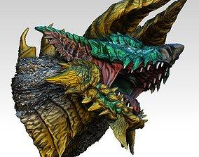 3D model Monster hunter Zinogre Head bust