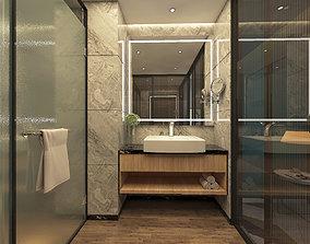Modren Nordic Style Bathroom Design 3D