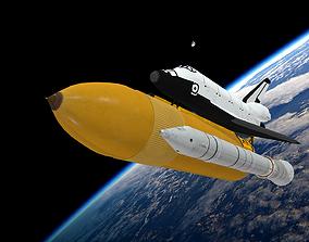 3D model VR / AR ready Space Shuttle game