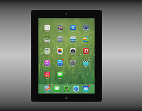 3D model Ipad 4th generation with Ios 7