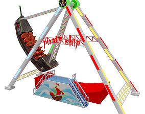pirate ship ride 3D