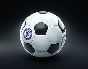 Soccer Ball Chelsea football club 3D