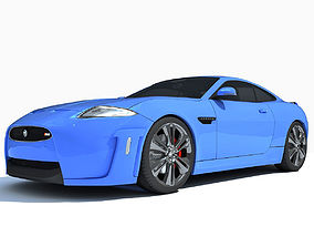 Blue Luxury Car 3D