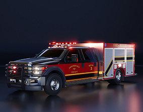 3D model Fire Engine - American Mini Pumper Truck Rescue